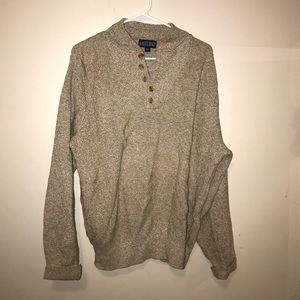 Land's end semi button down sweater